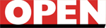 Open magazine logo