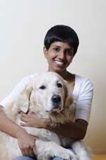 Rohini Fernandes with her therapet Angel